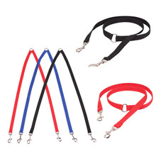 New Nylon Double Dog Coupler Twin Lead 2 Way Two Pet Dogs Walking Leash Splitter Safety Free Shipping