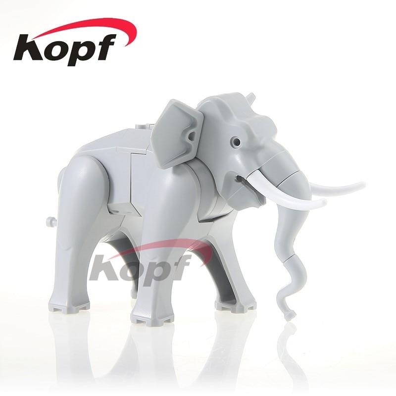 Single Sale PG1080 Super Heroes Elephant Figure Cute Animal Dolls Bricks Set Model Building Blocks Education Children Toys Gift projector lamp bulb an xr20l2 anxr20l2 for sharp pg mb55 pg mb56 pg mb56x pg mb65 pg mb65x pg mb66x xg mb65x l with houing