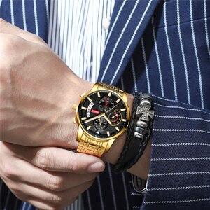 Image 5 - NIBOSI męskie zegarki Relogio Masculino Top marka luksusowe Reloje zegarek mężczyźni moda Sport kwarcowy wodoodporny biznes męski zegar