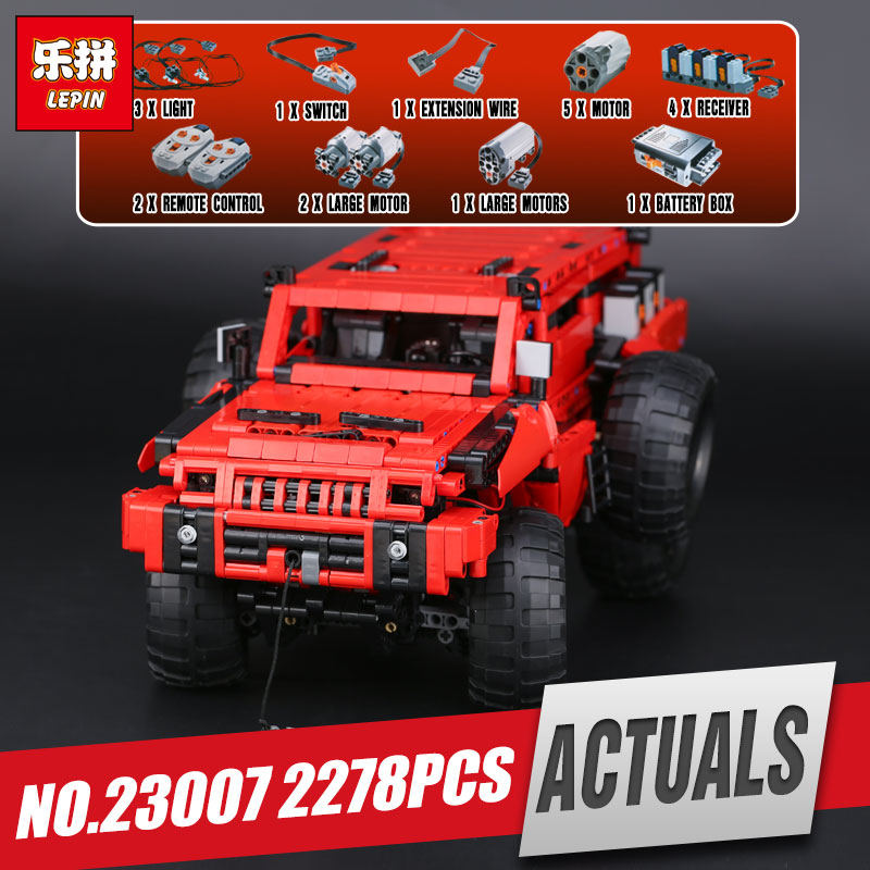 Lepin 23007 2278Pcs Genuine Technic MOC Series The Marauder Set Children Educational Building Blocks Bricks Toys Model Gift 4731 new lepin 23012 2839pcs genuine technic series the arakawa moc tow truck tatra 813 educational building blocks bricks toys gift