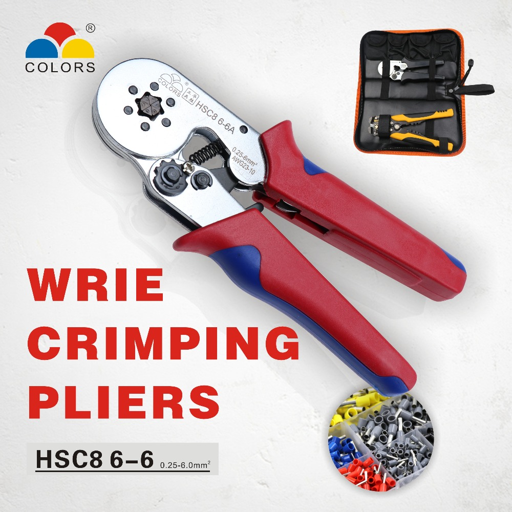 CORES ferramenta de friso crimper hsc8 6-6 6-4 kablo kesici alicates cabo ferramentas de friso alicate cortador de fio alicate crimpador alicates