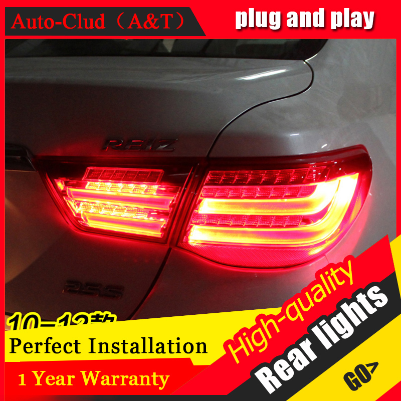 Car Styling LED Tail Lamp for Toyota MARK Tail Lights 2010-2012 For Reiz Rear Light DRL+Turn Signal+Brake+Reverse LED light akd car styling led drl for toyota reiz 2012 2013 mark x eye brow light led external lamp signal parking accessories
