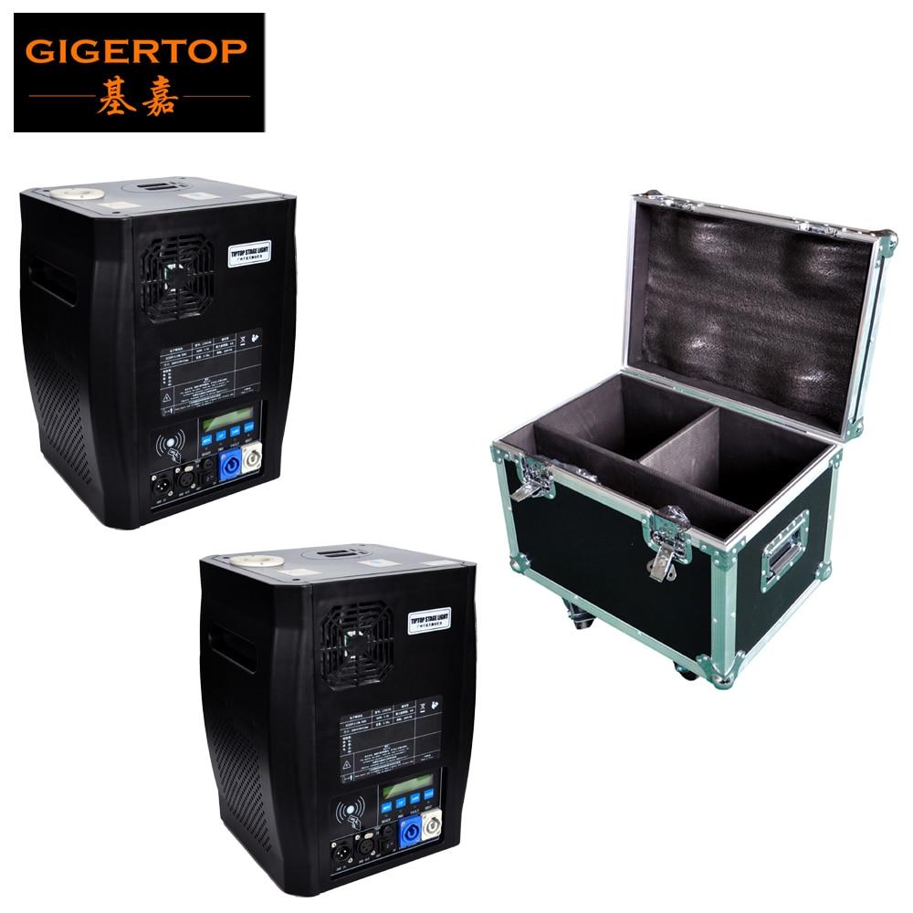 2IN1 Flight Case Pack 2 Units 600W Stage Cold Sparkle Machine fountain DMX Sparkular Machine with
