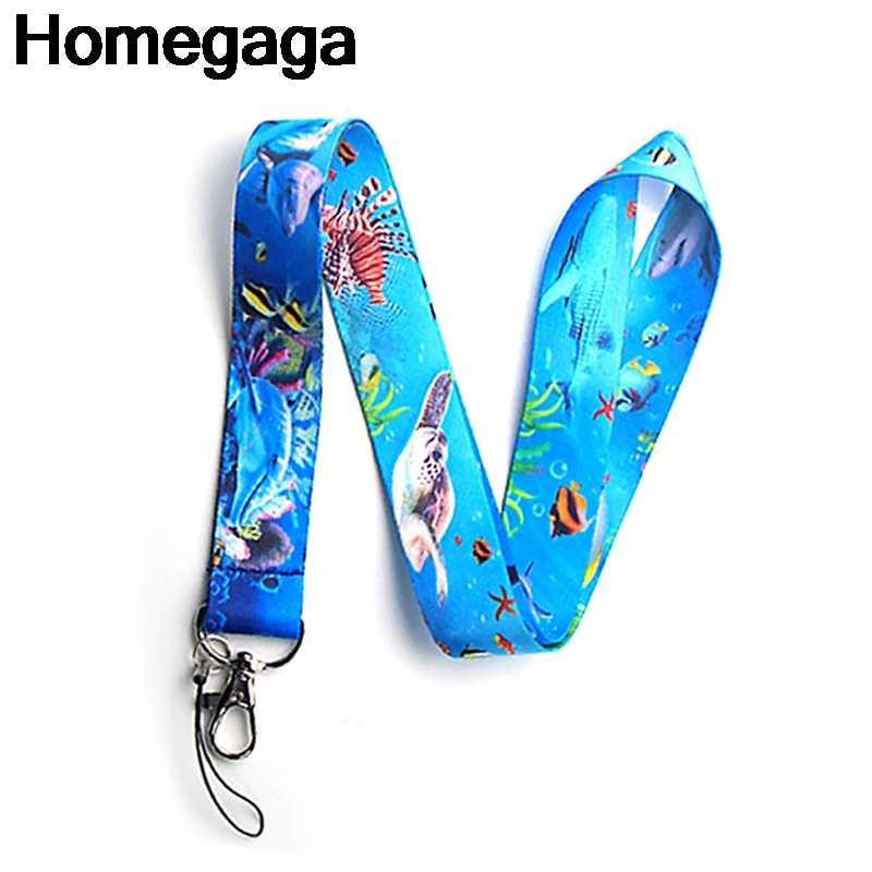 Homegaga SeaWorld Gantungan Kunci Aksesoris Keselamatan Memisahkan Diri untuk Ponsel USB ID Badge Pemegang Kunci Tali Kategori Leher Lanyard D2130