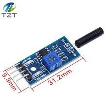 Вибрационный датчик модуль вибрации переключатель сигнализации модуль SW-18010P для arduino нормально открытый шок сенсор модуль Diy Kit