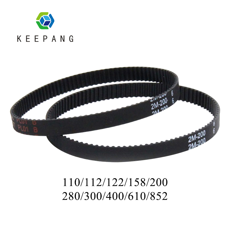 3D printer belt GT2 closed loop rubber 2GT timing belt 110/112/122/158/200/280/300/400/610mm imprimante 3d accessoire3D printer belt GT2 closed loop rubber 2GT timing belt 110/112/122/158/200/280/300/400/610mm imprimante 3d accessoire