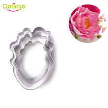 Delidge 3pcs/set Parrot Tulip Petal Flower Cookie Cutter Cake Decorating Tools Fondant Sugarcraft Candy Cupcake Biscuit Molds