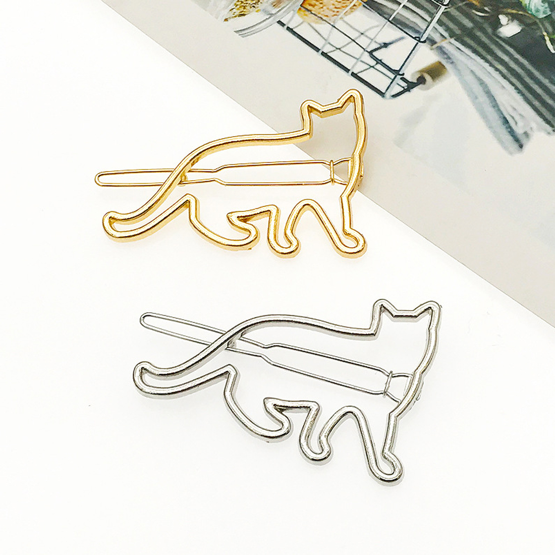 Cat Shaped Hair Clip Pin at The Great Cat Store