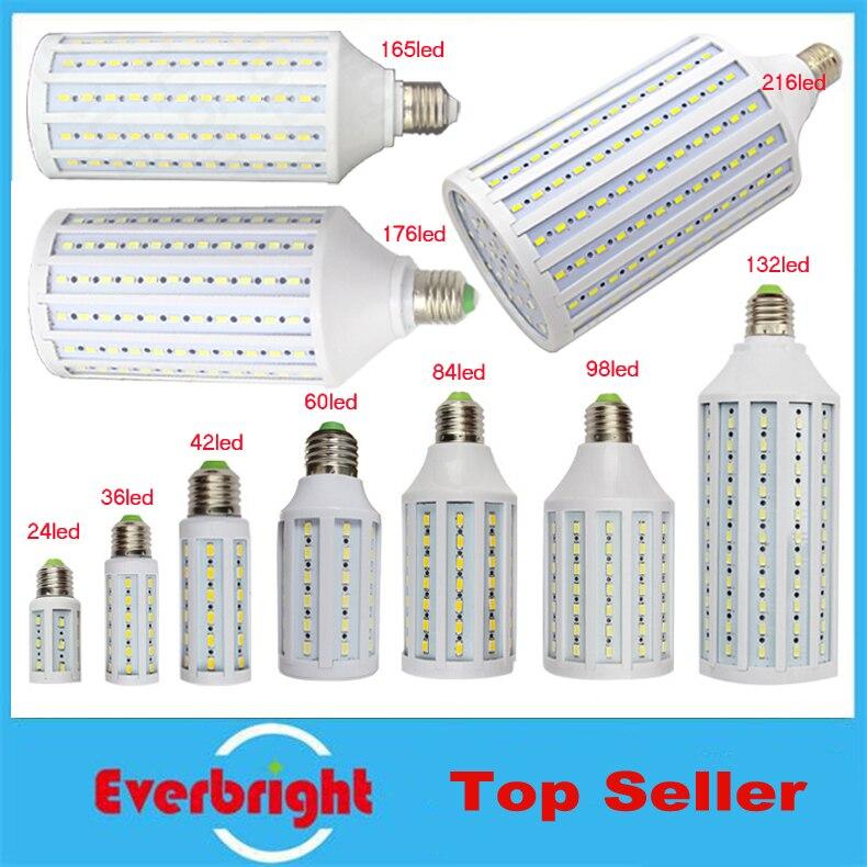 1pcs/lot free shipping 5w 8w 12w 15w 20w 25w 30w 40w b22 e14 smd 5730 e27 high brightness led corn light bulb free shipping