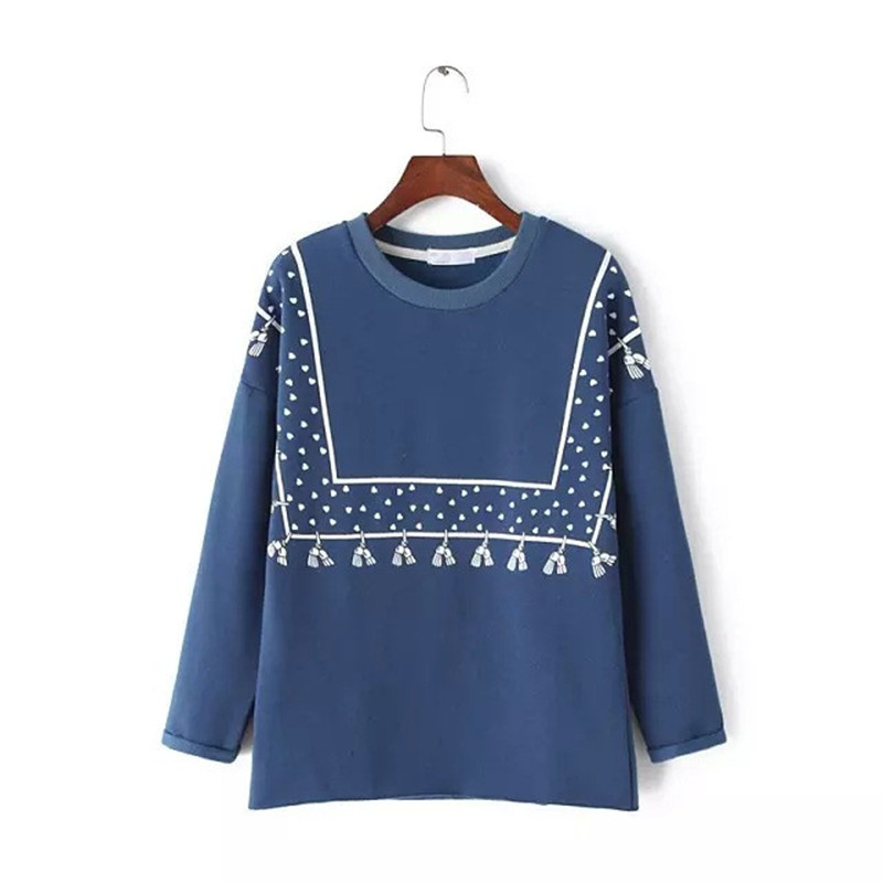 Blue Mori Girl Pullover Casual Clothes 2018 Autumn Long Sleeve Fleece Hoodies Sweatshirt ...