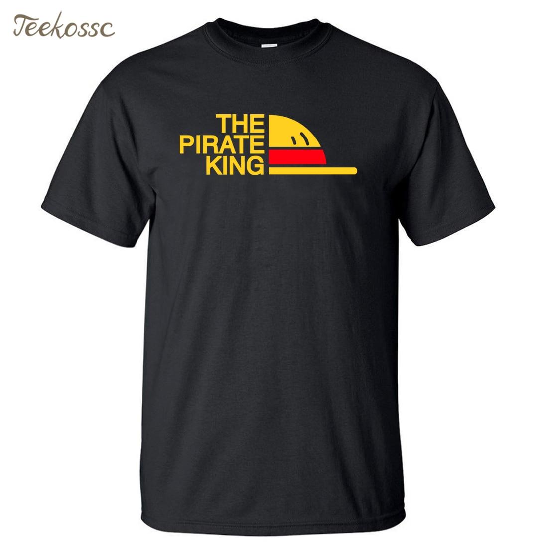 One Piece T Shirt Men The Pirate King T-Shirt Mens Luffy Tshirt Summer Tops Tee Japan Anime Harajuku New Design Camiseta Homme