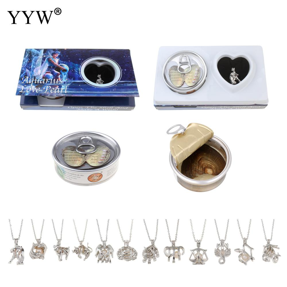 Pearl Oysters Canned-Pearl Mussel And Necklace Set Of Pearl Mysterious Gift Surprise 2017 Hot Sale Pearl Oysters Fashion Jewelry