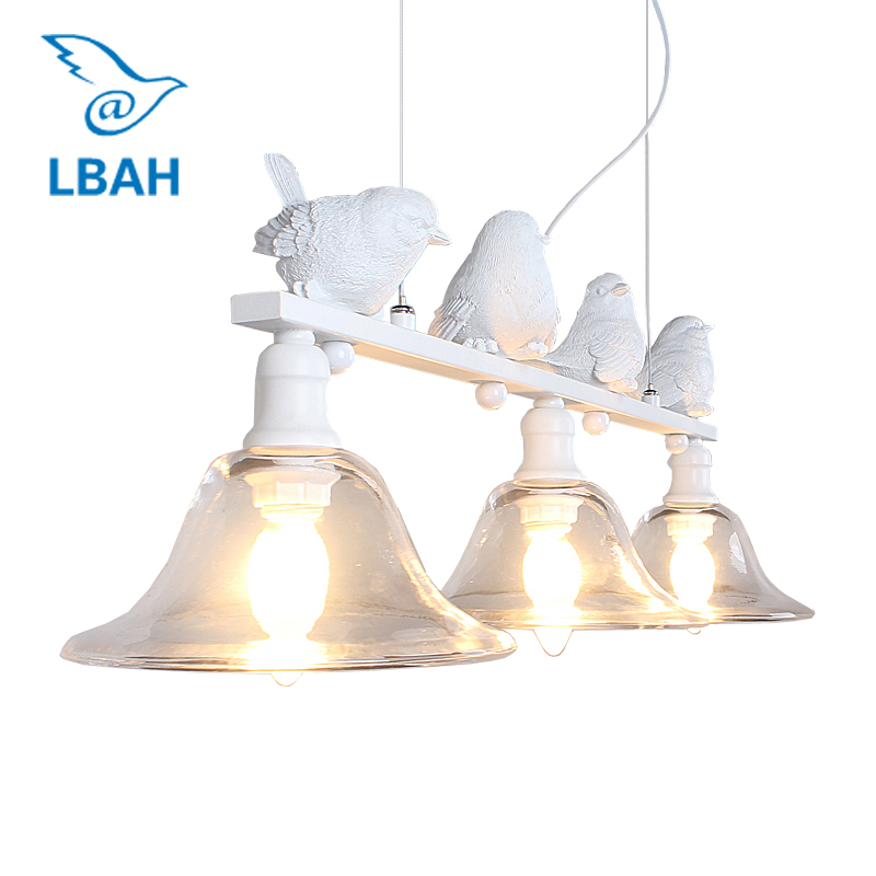 LBAH Contemporary and contracted rural restaurant lamp droplight three creative personality bar led lamps birds droplight contemporary and contracted restaurant droplight aluminum pendant lamp