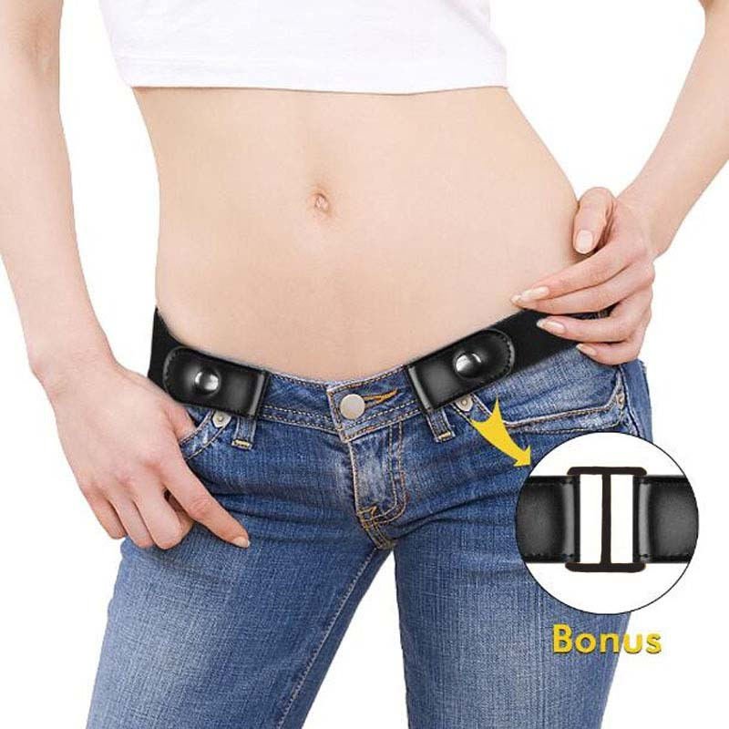 New Hot Sale Buckleless Elastic Belt Jeans Dress Without Buckle Ladies Belt Men's Belt Elastic Band