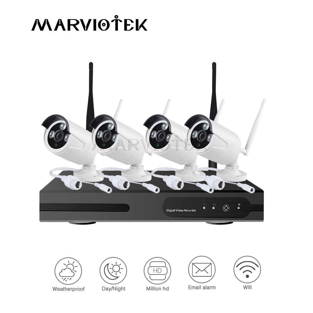 Security Camera System Wireless 8CH NVR Kit 720P Outdoor Waterproof IP Camera Wifi Video Surveillance Set 4CH CCTV Camera SystemSecurity Camera System Wireless 8CH NVR Kit 720P Outdoor Waterproof IP Camera Wifi Video Surveillance Set 4CH CCTV Camera System