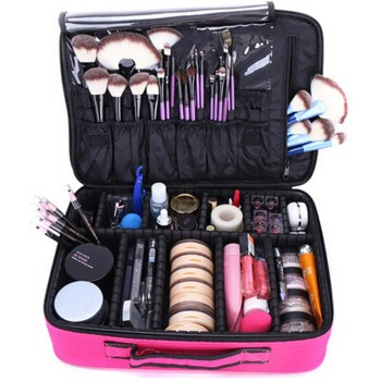 New Upgrade Large Capacity Cosmetic Bag Hot-selling Professinal Women Travel Makeup Case 5