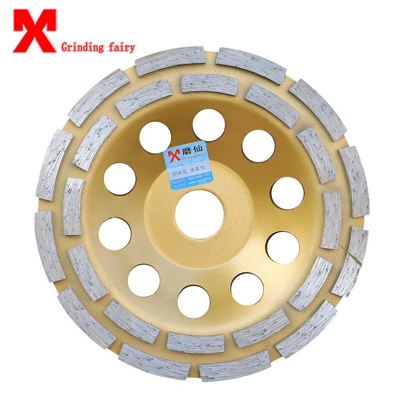 Rotella di diamante Disco Ciotola di Macinazione Tazza di Tamponi Per Lucidatura In Muratura Strumenti per Marmo Granito Cemento Ceramica mola 125-180mm