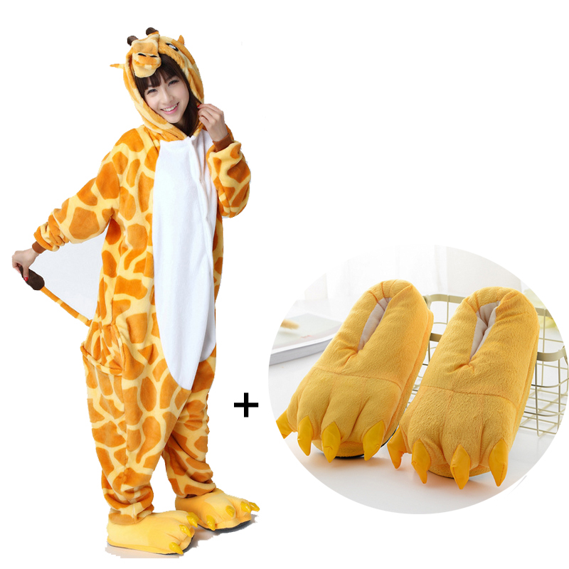 9df50e41ead2 Detail Feedback Questions about Soft Flannel Giraffe Kigurumi Animal  Jumpsuit For Adult Onesie Pajamas Kids One Piece Sleepwear Pyjamas Cosplay  Cosume Party ...