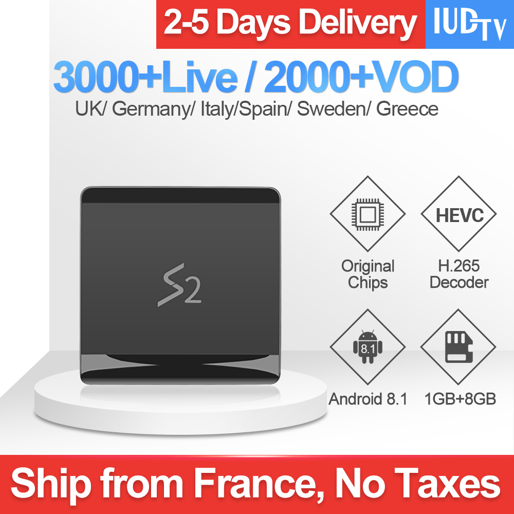 Leadcool S2 TV Box Iptv France Android 8.1 RK3229 With 1 Year IUDTV Iptv Subscription UK Greece Arabic Spain Netherlands Sweden-in Set-top Boxes from Consumer Electronics
