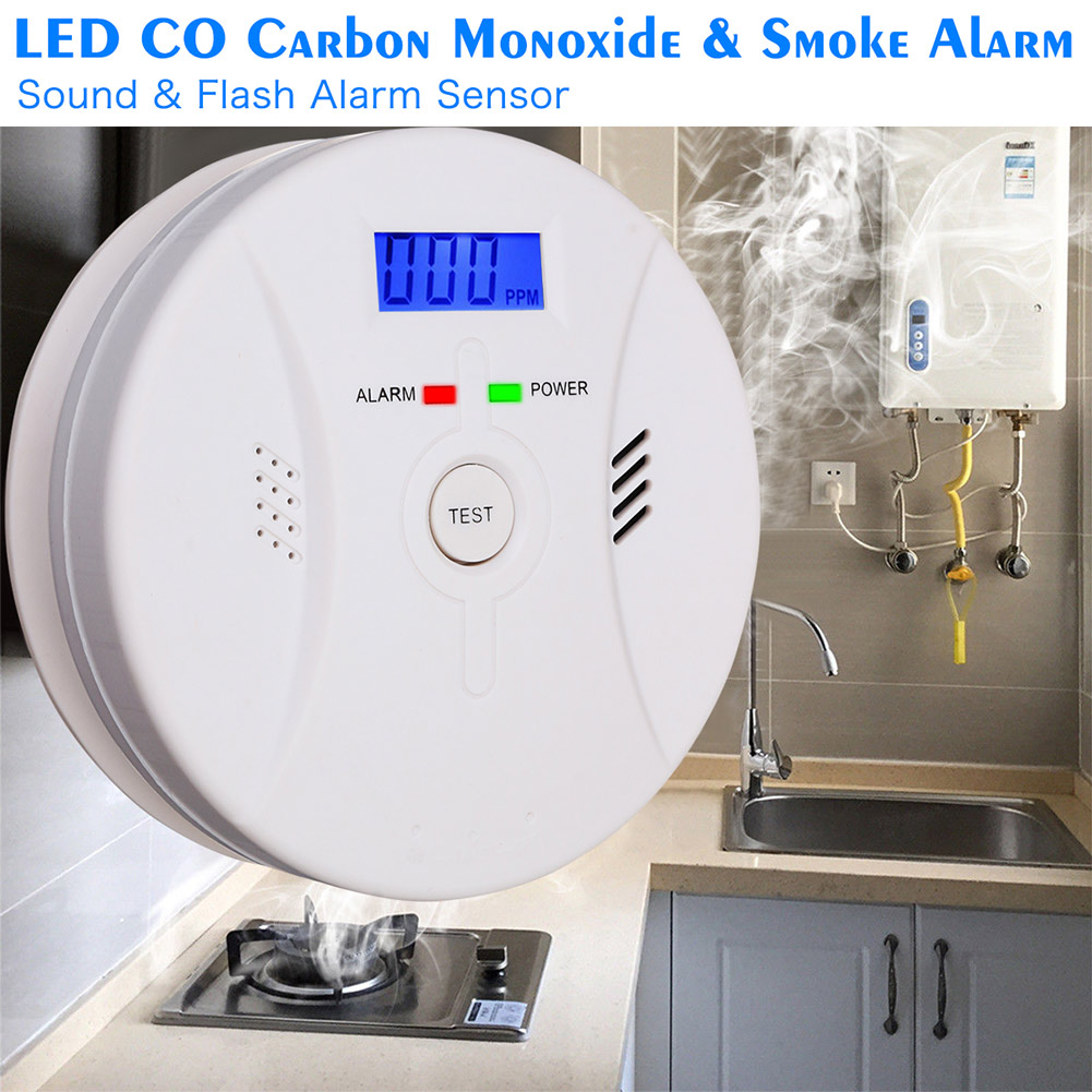 2 In 1 Combination Carbon Monoxide + Smoke Alarm Battery Operate CO & Smoke Detector LCC77 цена
