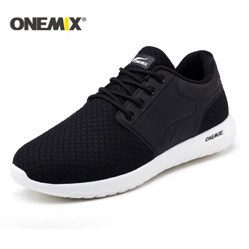 Onemix new running shoes for men breathable mesh men sports sneaker lightweight sneaker for outdoor walking