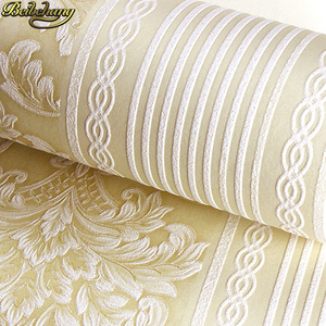 Image 1 - beibehang papel de parede 3d European vertical stripes Wallpaper for Bedroom Modern Design living room decoration wall paper