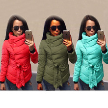 Women's Winter Jacket Down Coat Female 2016 Autumn Winter Jackets Cotton Turtleneck Coats Warm Parka For Women Plus Size 3XL