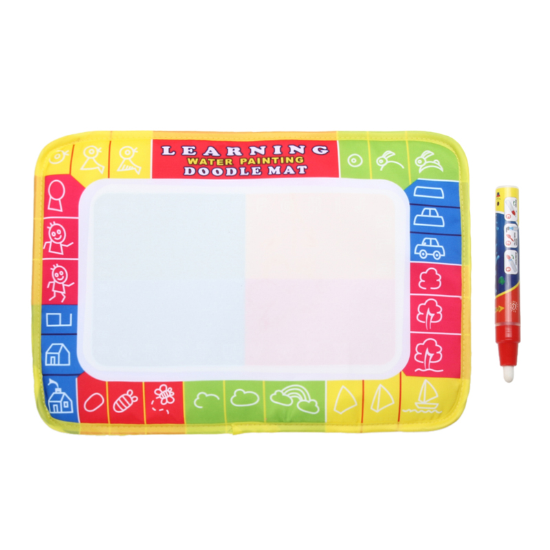 Children Educational Mini Water Writing Painting Drawing Toy Mat Board &Magic Pen Doodle Kid Drawing Play Mat Toys Gift 29*19cm