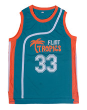 Jackie Moon Flint Tropical Throwback Jerseys 33 Retro font b Basketball b font Movie Jersey Cool