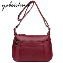 Female Leather Messenger Bags Sac A Main Crossbody Bags For Women Vintage Shoulder Bag Bolsas Femininas Designer Handbags