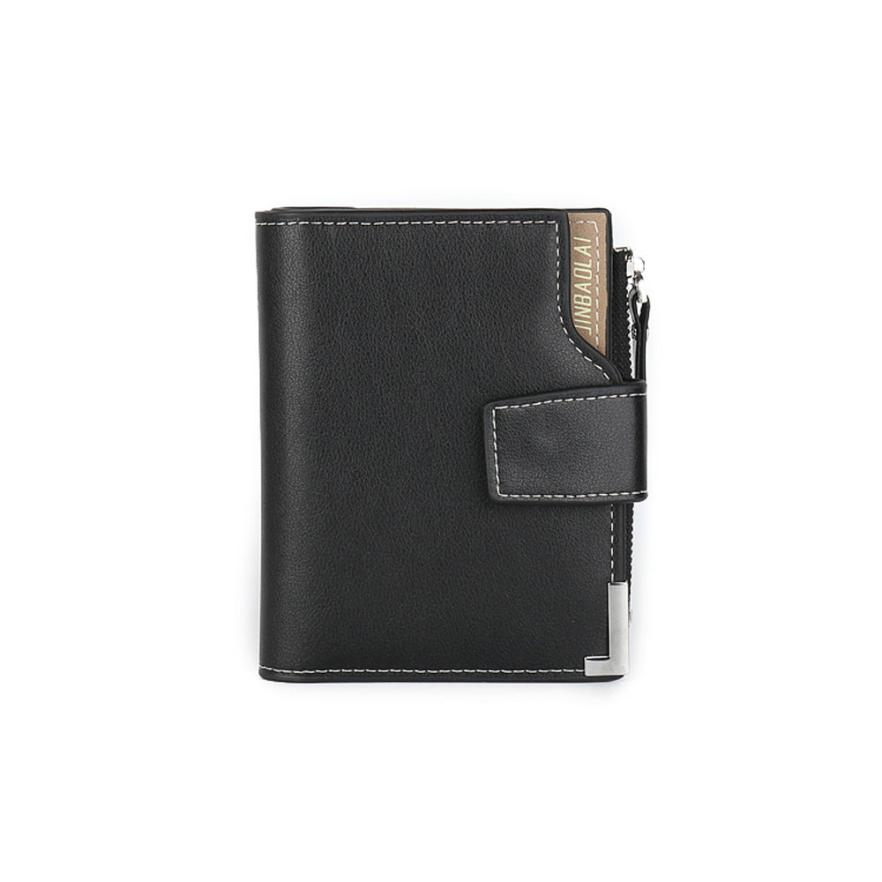 High Quality Men Zipper Bifold ID Credit Card Holder Clutch Billfold Purse Wallet Famous Brand  JINBAOLAI carteira masculina fashion solid men s wallet long clutch card holder bifold canvas zipper phone purse male large money bag carteira masculina