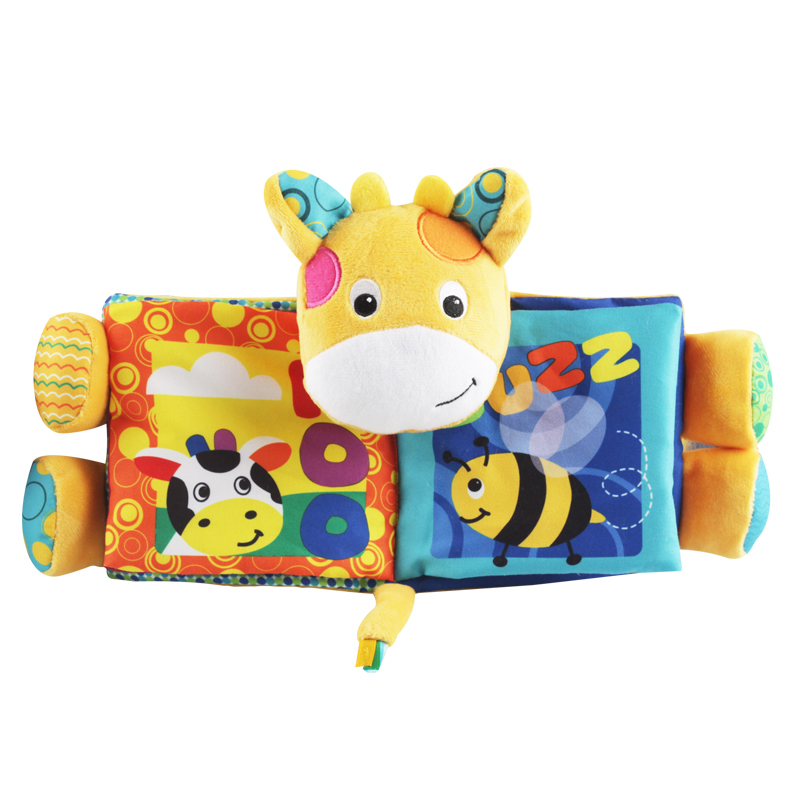 Cartoon Dog Deer Baby Mobile Rattles Plush Cloth Book For Toddlers Newborn Learning Early Education Toy Spielzeug livro DS19