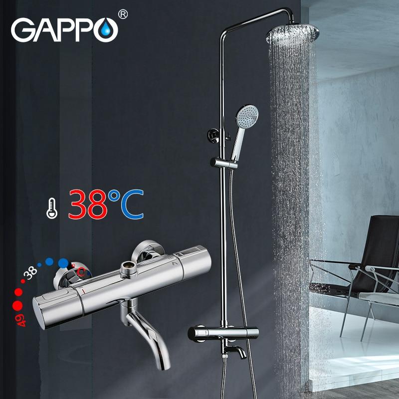 GAPPO Bathtub Faucet Rainfall shower taps bathtub mixer shower head wall mount Shower faucet waterfall faucets