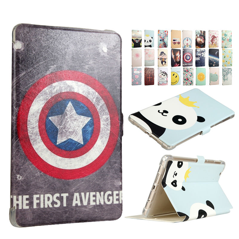 Media Pad M3 PU Leather Case Cover 8.4'' Smart Tablet PC Fundas Colorful Print For Huawei MediaPad M3 8.4 BTV-W09 BTV-DL09 Skin цена