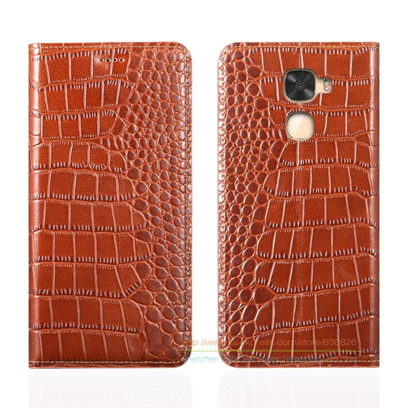 Crocodile Grain Genuine Leather Case For Letv <font><b>LeEco</b></font> Le <font><b>Cool</b></font> <font><b>Changer</b></font> <font><b>S1</b></font> 5.5&#8243; Luxury Phone Cover &#038; Invisible Magnet 1 Card Slot