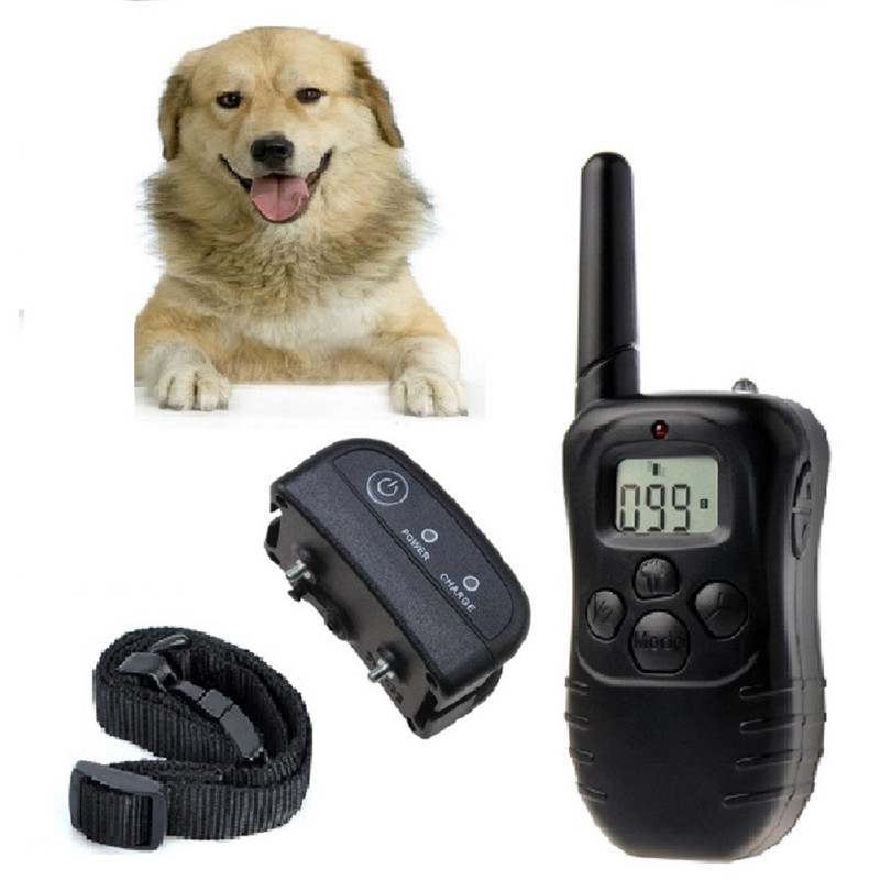 WODONDOG Pet Products 198-1 300M 100 LV Remote Electric Dog Training Shock Collar Vibration rechargeable electric lcd For 1 Dogs