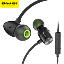 Awei Wt30 Bluetooth Earphone Headphone Wireless Headset With Mic Waterproof Sport In Ear Earphone Earpiece For Iphone Xiaomi original xiaomi bluetooth collar earphone sport wireless bluetooth headset in ear magnetic mic play dual dynamic headphone