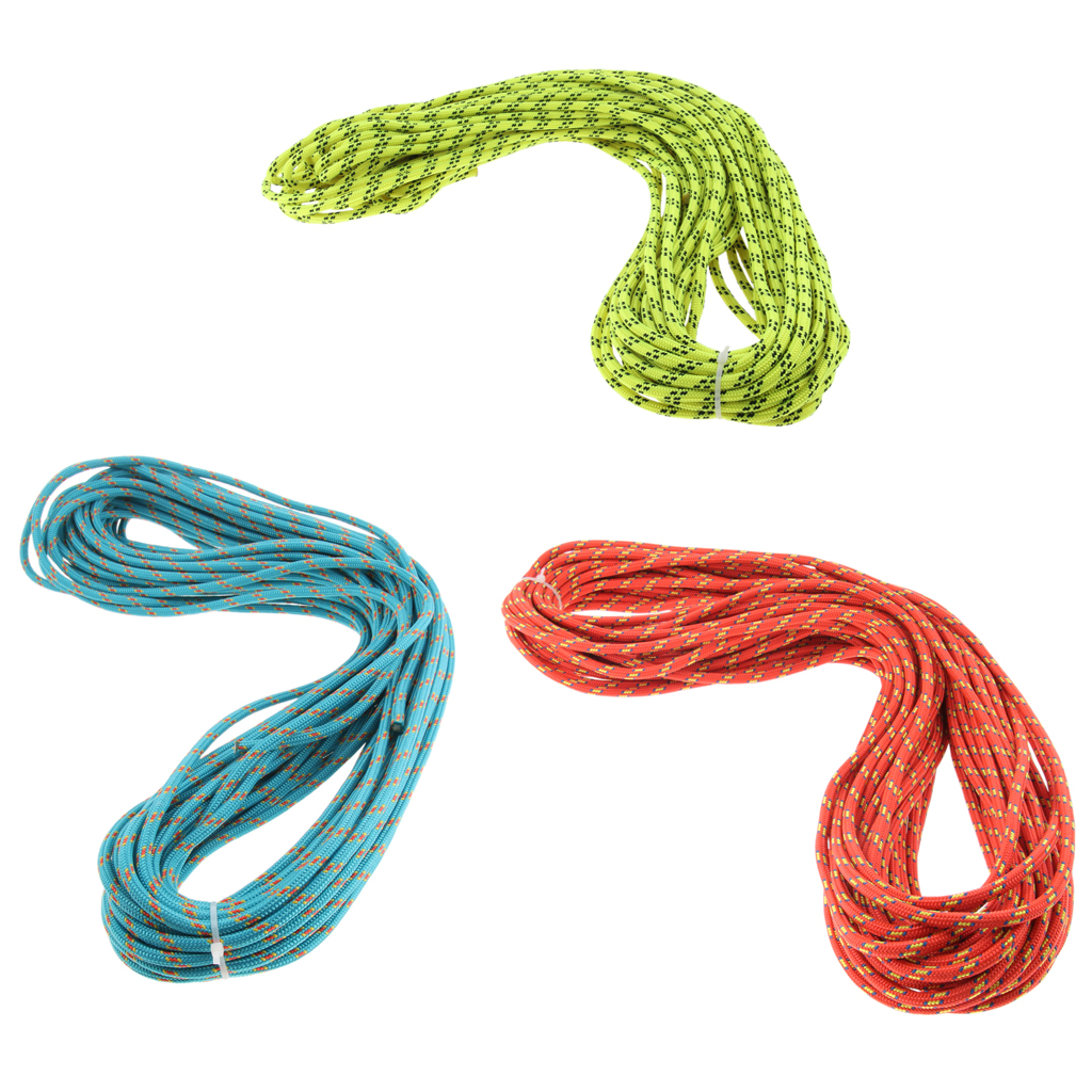 Nylon Climbing Safety Auxiliary Rope Static Cord Outdoor Rescue Tool Multipurpose Climbing Accessories 6mmx30m Orange/Green/Blue-in Climbing Accessories from Sports & Entertainment