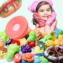 Toys Hobbies - Pretend Play - Baby Education Toys For Girls Boys Children For Kid's Kitchen Goods Pretend Play Cutting Birthday Food For Doll Fruit Vegetables