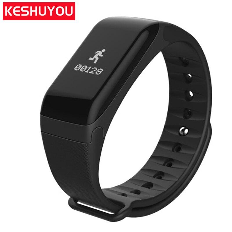 F1 sport banda monitor di frequenza cardiaca bluetooth intelligente del braccialetto intelligente di pressione sanguigna pedometro per orologi wristband android IOS