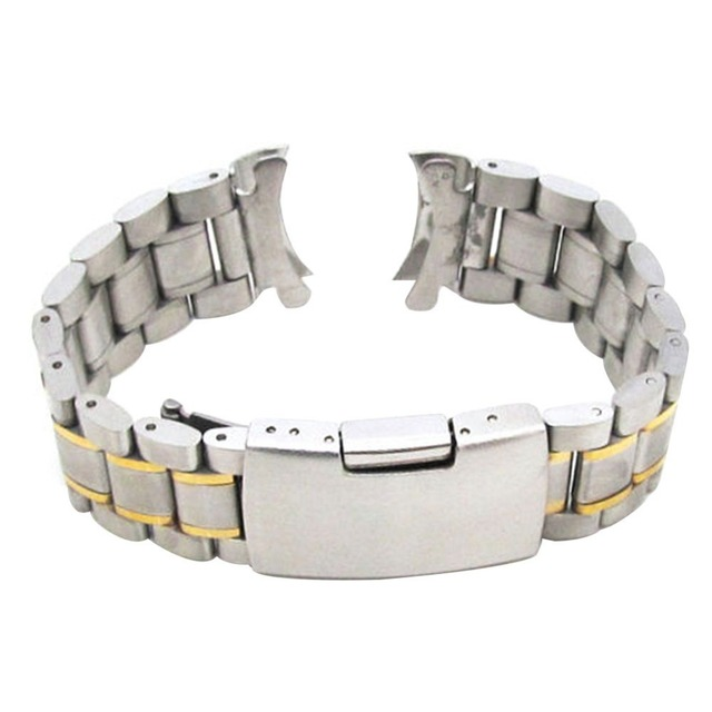 18-24 mm Watch Bansd Strap Stainless Steel Deployment Clasp Speed Master Wrist B