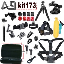 A9 For SJCAM accessories set mount for SJ4000 SJ9000 for Gopro hero 5 4 3 / Xiaomi yi 4k action camera / Sony Action cam
