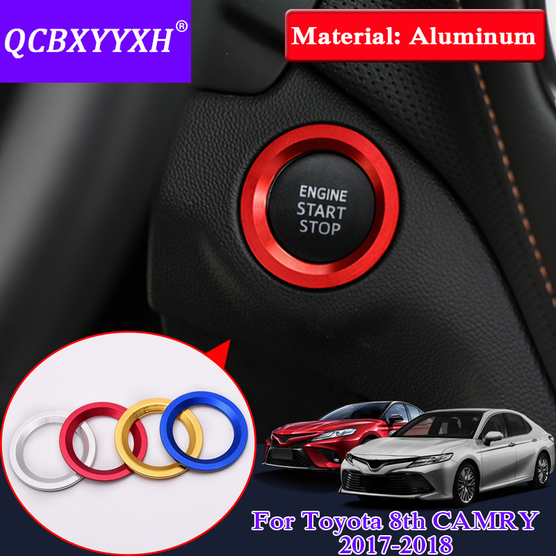 QCBXYYXH For Toyota 86 Camry Corolla Vios Reiz RAV4 CHR Yaris L Highlander Alphard Car Styling Aluminum Ignition Switch Cover