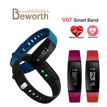 V07 Smart Bracelet Blood Pressure Heart Rate Monitor Band Watch Fitness Pulse Meter Activity Tracker for Android iOS