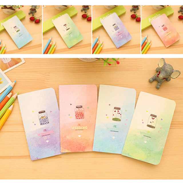 1pcs Cute Small Mini Notebook Cartoon Note Pad Paper Planner for
