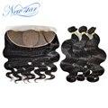 Nova Estrela da extensão do cabelo humano brasileiro onda do corpo do cabelo virgem tecer 3 pacotes com um centro 4*4 seda 13*4 frontal ofertas alibaba
