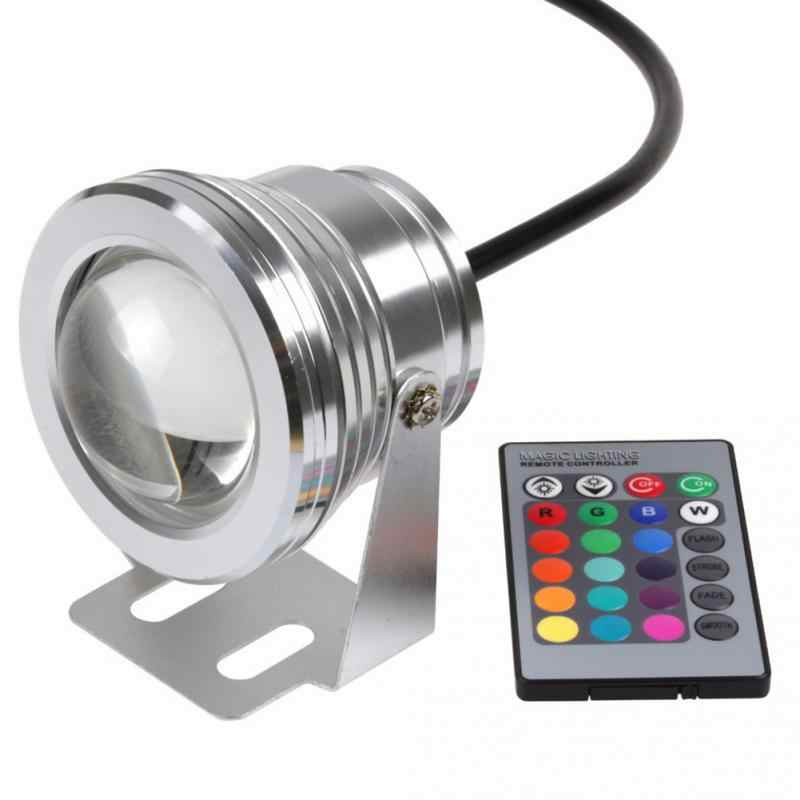 10W 12V RGB White/Warm White LED Underwater Spot Light IP68 Waterproof Pond Aquarium night Lamps