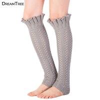 Dream Tree Boho Boots Cuff Women Leggings Good Quality High Knee Long Stocking Flouncing Style