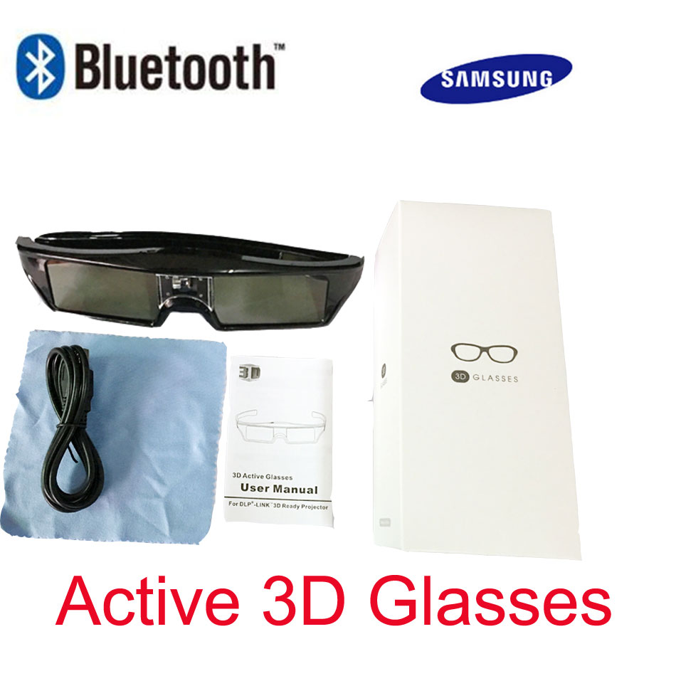 Universal <font><b>3D</b></font> Glasses Bluetooth Rechargeable Active Shutter Glasses for Sony/Panasonic/Sharp/<font><b>Samsung</b></font> <font><b>3D</b></font> <font><b>TV</b></font> Glasses Bluetooth image