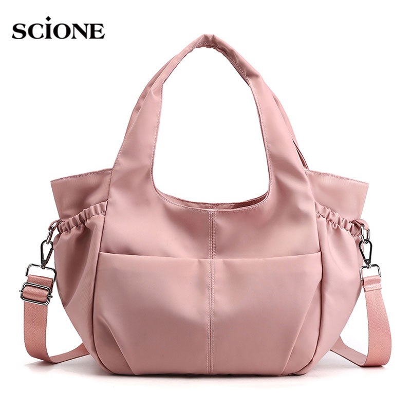 Women Traveling Bags Nylon Gym Bag For Fitness Training Outdoor Waterproof Sports Handbags Shoulder Crossbody Cute Gymtas XA39WA